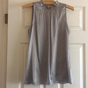 Ann Taylor- Silver Silky Tank- Dressy.